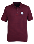 Circle Logo Striped Polo - Navy & Red