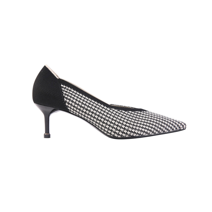 Heels with Houndstooth Top (various designs)