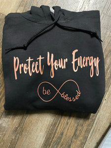 Rose Gold Protect Your Energy - Pullover Hoodie