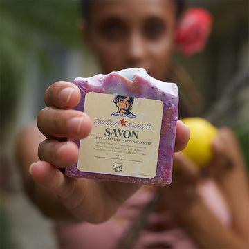 Phleur Serum™ Savon, Lemon Lavender Poppyseed Soap