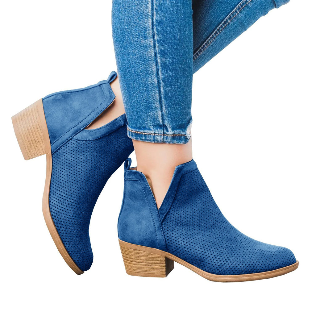 Sofiawears Low Heel Ankle Boot