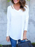 Sofiawears Long Sleeve V Neck T Shirt