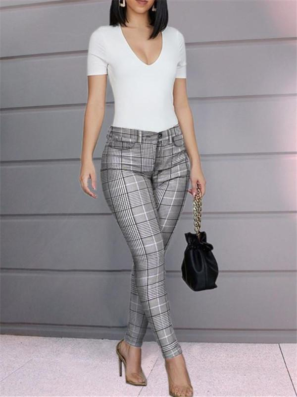 Sofiawears Solid Buttoned Casual Coated PU Pants