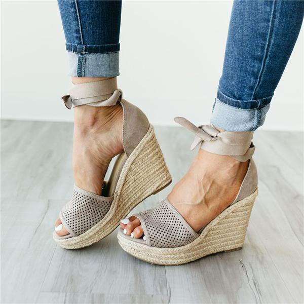 Sofiawears Sprout Espadrilles Wedge Sandals