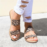 Sofiawears Double Strap Cheetah Sandals