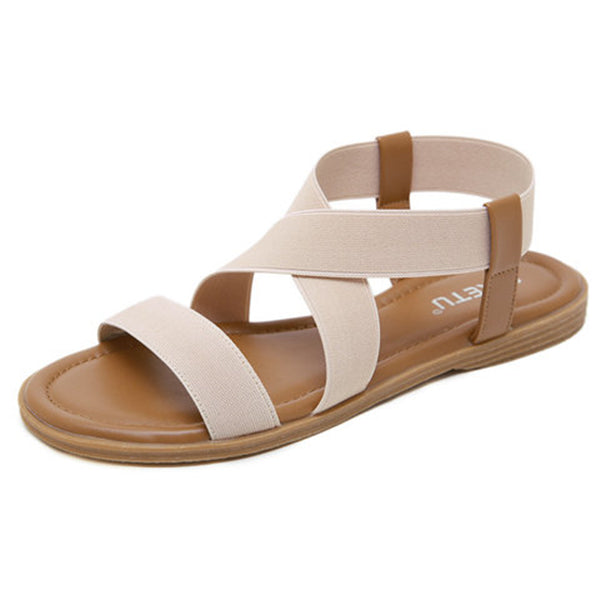 Sofiawears Women Casual Summer Comfy Slip On Sandals