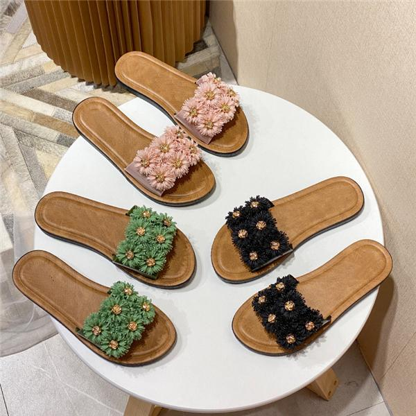Sofiawears Summer Flower Flat Sandals Slippers