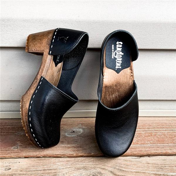 Sofiawears Swedish Wooden Clogs Sandals