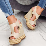 Sofiawears Rope Inserts Wedge Sandals