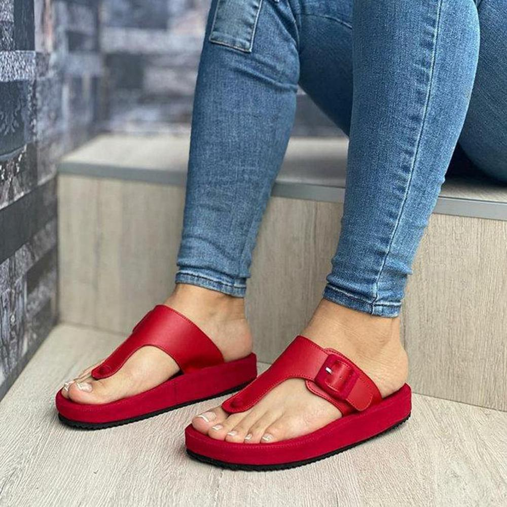 Sofiawears Summer Slip On Casual Slide Sandals Slippers