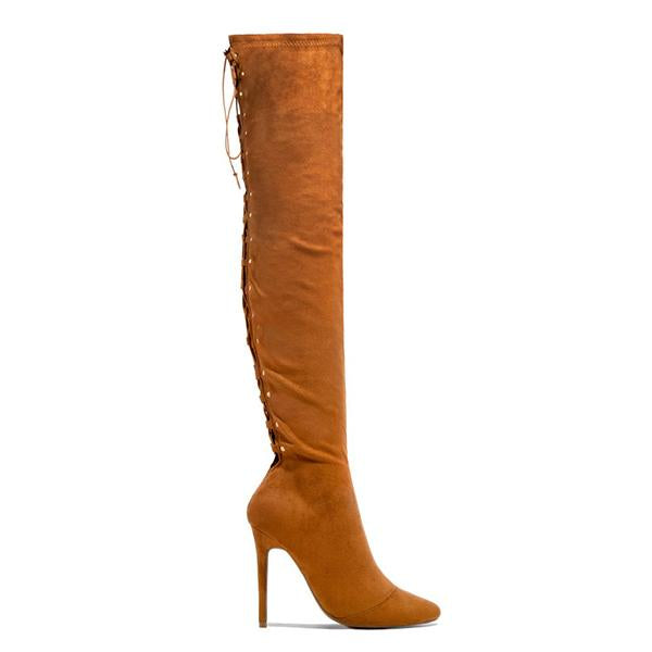 Sofiawears Over The Knee Lace Up Back Boots