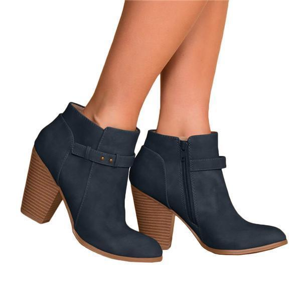 Sofiawears Side Zipper Wedge Bootie