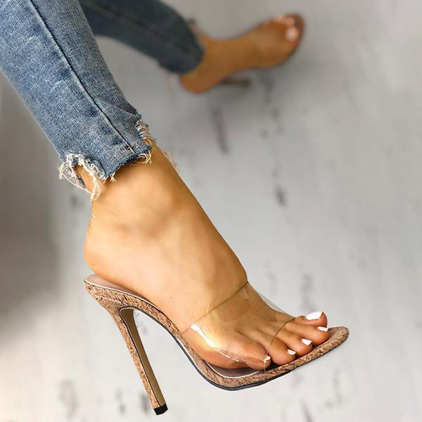 Sofiawears Fashion Transparent High Heel Sandals