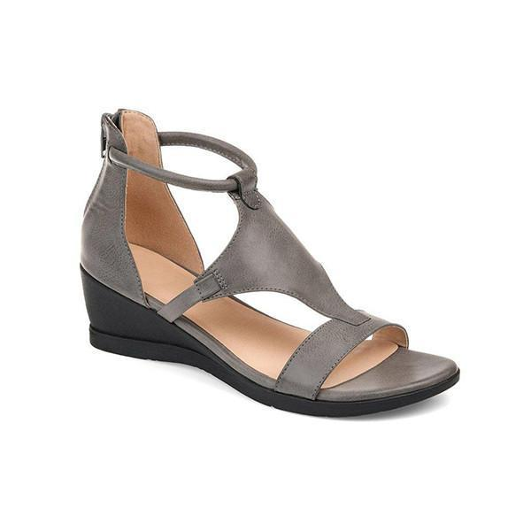 Sofiawears Women Casual Daily Wedge Sandals