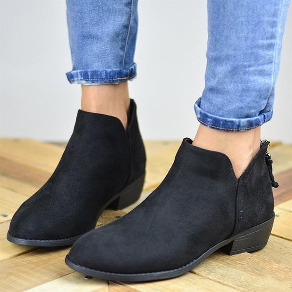 Sofiawears Women's Suede Ankle Boots