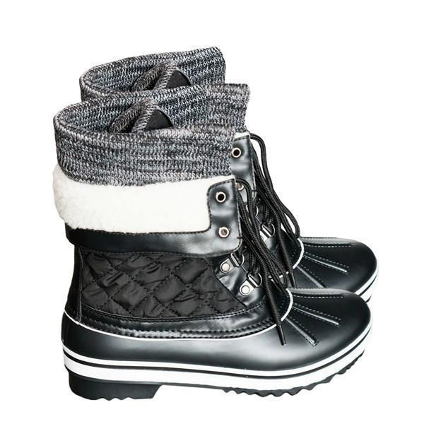 Sofiawears Fashion Flat Boots Women's High-top with Sneakers