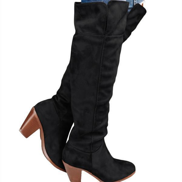 Sofiawears Low Heel Daily High Booties