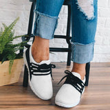 Sofiawears Adjustable Laces Suede Sneakers