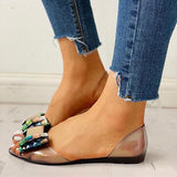 Sofiawears Pretty Design Daily Bow Simple Sandals