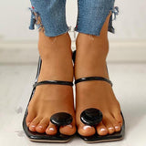 Sofiawears Toe Post Button Sandals Slippers