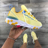 Sofiawears Casual Yellow Sneakers Breathable Running Shoes