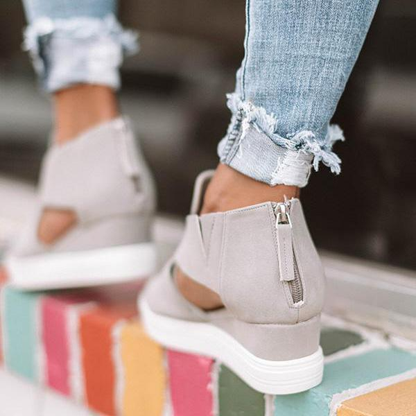 Sofiawears Women Fashion Stylish Wedge Sneakers