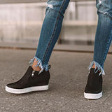 Sofiawears Daily Comfy Wedge Sneakers