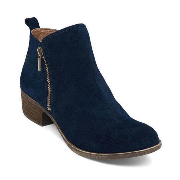 Sofiawears Leather Suede Vintage Boots(Ship In 24 Hours)