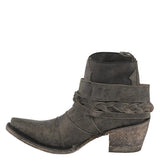 Sofiawears Classic Distressed Leather Ankle Boots