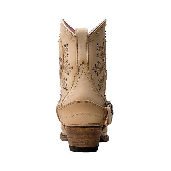 Sofiawears Mid Heel Ankle Boots Western Cowboy Booties