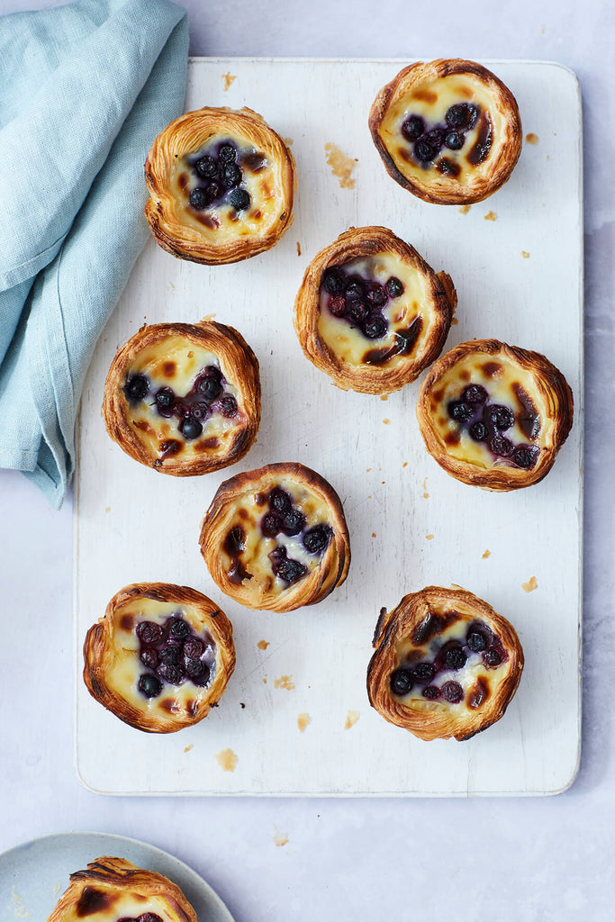 Blueberry Pastel De Nata  Pastries Pastries Magnificent Marrow