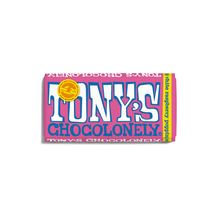 Tony's Chocolonely White Raspberry Popping Candy 28%  Sweet Shop Sweet Shop Magnificent Marrow