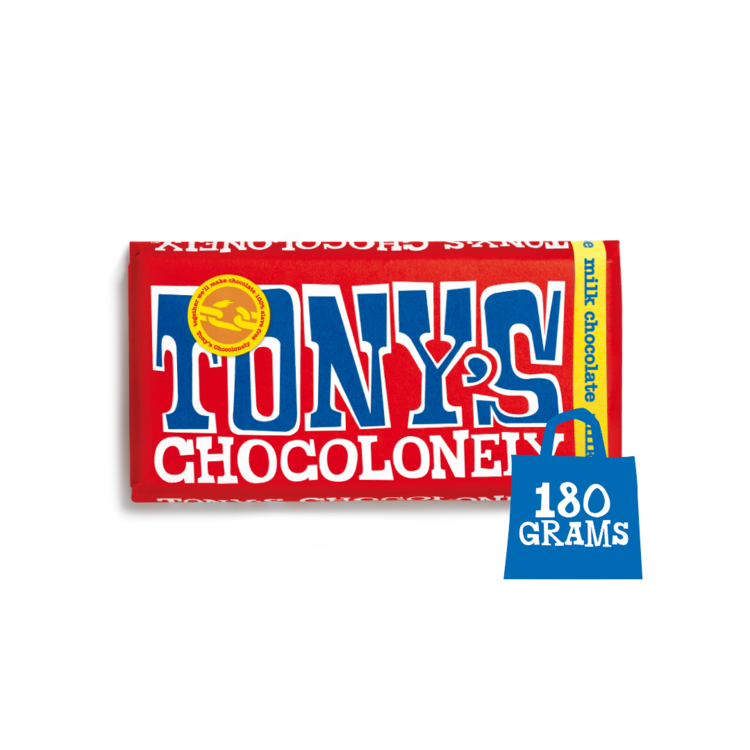 Tony's Chocolonely Milk Chocolate 32%  Sweet Shop Sweet Shop Magnificent Marrow