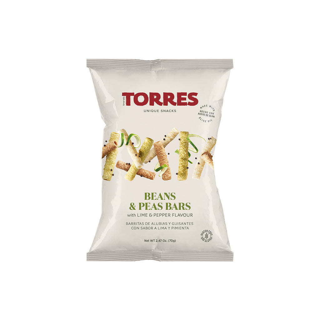 Torres Beans and Peas Bars with Lime and Pepper  Crisps, Deli Deli Magnificent Marrow