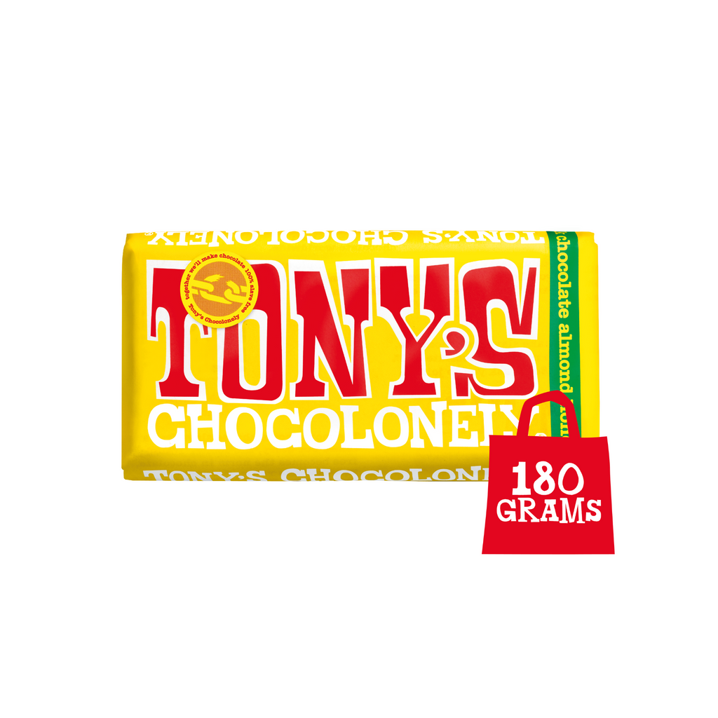 Tony's Chocolonely Milk Chocolate Almond Honey Nougat  chocolate, Sweet Shop Sweet Shop Magnificent Marrow