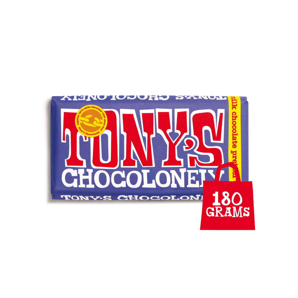 Tony's Chocolonely Dark Milk Pretzel Toffee 42%  chocolate, Sweet Shop Sweet Shop Magnificent Marrow