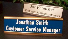 "8"" Metal Desk Nameplate - Choice of Font"