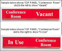 "12"" Sliding Sign Set - Choice of Font"