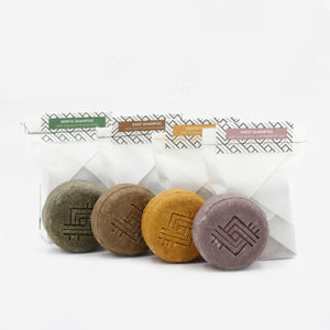 Dygo handcrafted, organic, natural and environmentally conscious solid shampoo.
