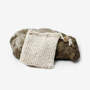 DYGO.STUDIO hand knitted soap bags made of vintage natural cotton thread