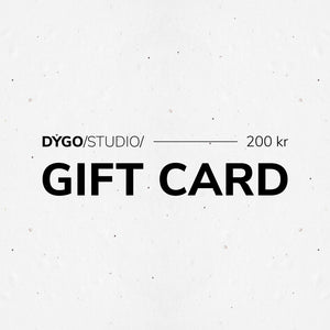 DYGO.STUDIO gift card for 200kr