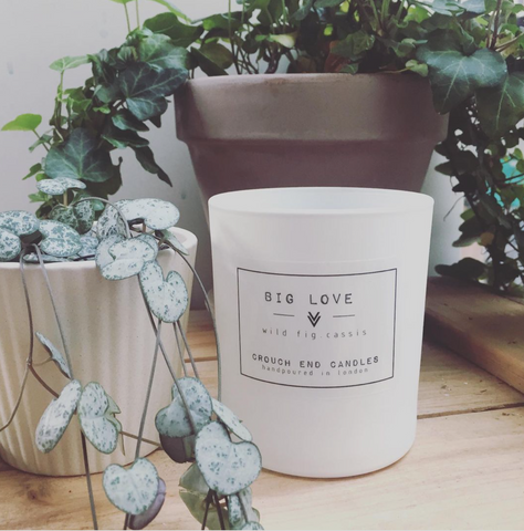 """BIG LOVE"" wild fig and cassis scented candles"