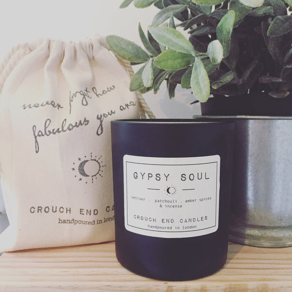 """GYPSY SOUL"" vetiver,  patchouli ,amber spice candles"