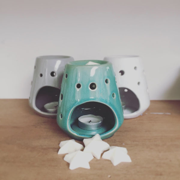 wax melt warmer jade green