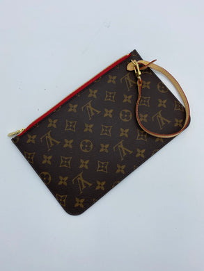 Louis Vuitton Neverfull pouch w/ red - 2