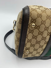 Load image into Gallery viewer, Gucci GG print Web Boston medium bag with strap