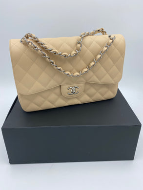 Chanel Jumbo Beige Caviar Double flap bag
