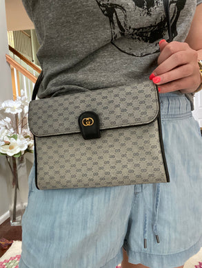 Gucci Vintage Blue Micro GG crossbody bag