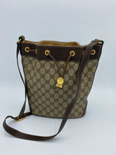 Load image into Gallery viewer, Gucci Vintage Medium GG print bucket bag