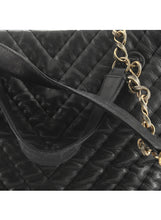Load image into Gallery viewer, Chanel Surpique CC Charm Tote Chevron Iridescent Calfskin Large
